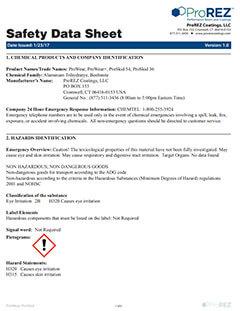 ProWear & ProSkid Safety Data Sheet