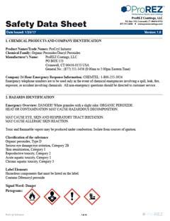 ProCryl Initiator Safety Data Sheet