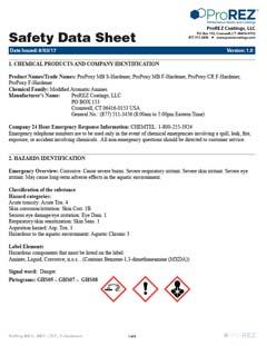 ProPoxy f, mc & flex Hardener Safety Data Sheet