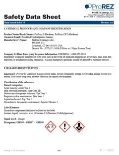 ProPoxy s-Hardener Safety Data Sheet