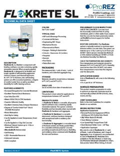 FlexKrete SL Technical Data Sheet