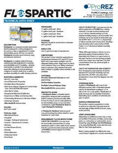 FlexSpartic Technical Data Sheet