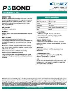 ProBond Technical Data Sheet