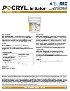 ProCryl Initiator Technical Data Sheet