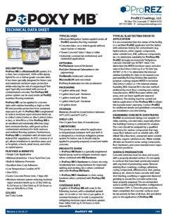 ProPoxy Moisture◊BLOK Technical Data Sheet