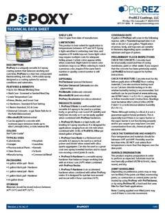 ProPoxy Technical Data Sheet