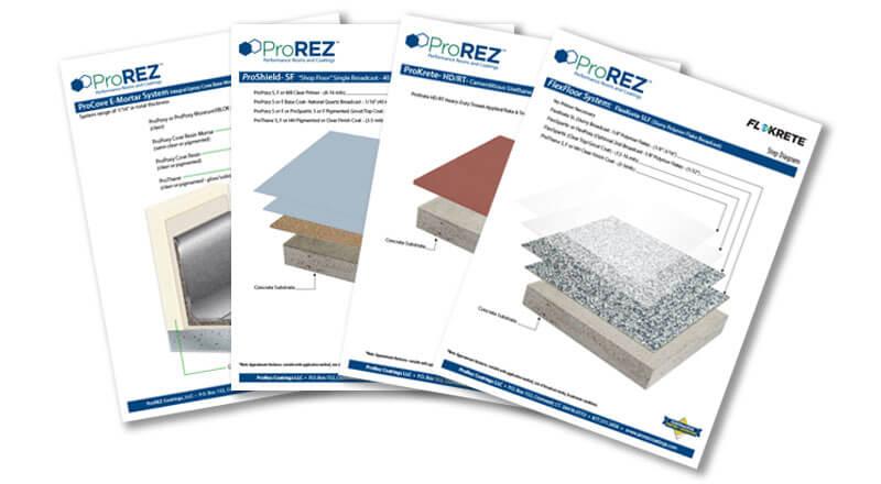 Floor coatings Step Diagram Sheets