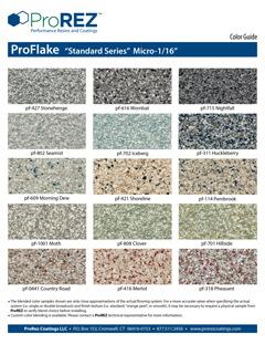 ProFlake Standard Series Floor Covering